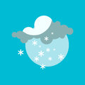Weather snowflake icon vector.