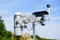 Weather station in mountain area Royalty Free Stock Photo