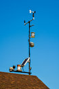 Weather station on roof Royalty Free Stock Photo