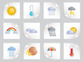 Weather stickers Royalty Free Stock Photo