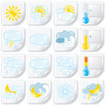 Weather Stickers Stock Images