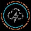 Weather storm illustration, sun rain symbol