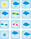 Weather symbols Stock Image
