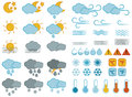 Weather symbols and icons set