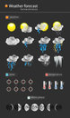 Weather vector icon set illustration Stock Images
