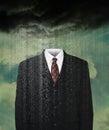 Weather, Weatherman, Rain, Storm Clouds Royalty Free Stock Photo