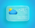 Weather widget this is file of eps format Royalty Free Stock Photography