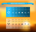 Weather widgets work well for any background Stock Photos