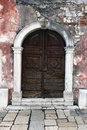 A Weatherbeaten Doorway Royalty Free Stock Photos