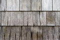 Weathered cedar shake roof shingles Royalty Free Stock Photo