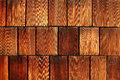 Weathered cedar shakes a background of on a long island house Stock Photos