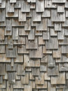 Weathered cedar shingle exterior siding Stock Images
