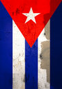 Weathered cuban flag Royalty Free Stock Image