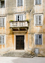 Weathered facade stairs croatia house view of in zadar Stock Photo