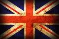 Weathered flag of United kingdom Royalty Free Stock Photo