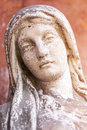 Weathered maria sculpture portrait of a unknown artist of the th Royalty Free Stock Image