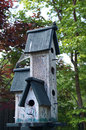 Weathered old birdhouse wooden multi unit Stock Images