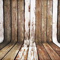 Weathered old wood curved background Royalty Free Stock Images