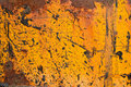 Weathered orange steel plate Royalty Free Stock Photography