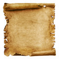 Weathered paper scroll Royalty Free Stock Photo