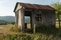 Weathered shack abandoned elmalı turkey Stock Photo