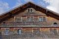 Weathered shingle house facade Royalty Free Stock Photo