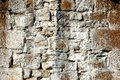 Weathered Stone Wall Royalty Free Stock Photography