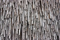 Weathered Straw Roof Royalty Free Stock Photo