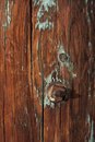 Weathered wood of old barn post Stock Photography