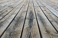 Weathered wooden deck Royalty Free Stock Photos
