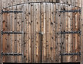 Weathered Wooden Double Door Stock Photos