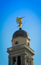 Weathervane s angel cupola bell tower udine Royalty Free Stock Photos