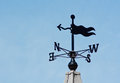 Weathervane wind direction decoration plain modern on a roof top showing without a cockerel Stock Photo
