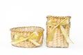 Weave basket isolated on white background Stock Image