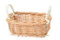 Weave basket on white background Stock Photo