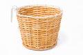 Weave basket on white background Stock Image