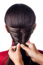 Weave braid isolate beautiful french on white Stock Photography