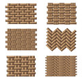 Weave pattern set with different styles Stock Image