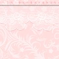 Weave wedding invitation or greeting card with delicate lace vector illustration Royalty Free Stock Photo