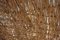 Weaved straw roof Royalty Free Stock Images