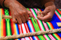 Weaving knitting cloth textile peruvian cultural Royalty Free Stock Photos