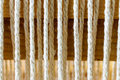 Weaving loom for carpets linen detail Royalty Free Stock Photo