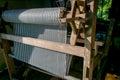 stock image of  Weaving machine