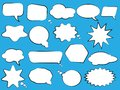Set of speech bubbles. Blank empty white speech bubbles. Cartoon balloon word design.