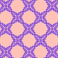 Blue ornament on a pink background
