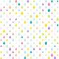Unicorn Tears/ Water drops/ Rain drops background, seamless colorful pattern in vector eps 10.