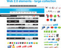 Web 2.0 elements - large collection Stock Photos