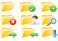 Web 2.0 Folder Internet Icons Stock Photography