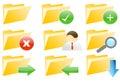 Web 2.0 Folder Internet Icons Royalty Free Stock Photo