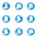 Web 2.0 icons, blue set Royalty Free Stock Photo